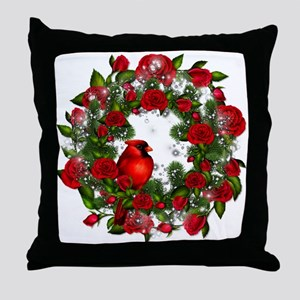 SPARKLING CARDINAL Throw Pillow