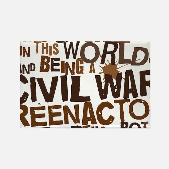 civil_war_reenactor_brown Rectangle Magnet