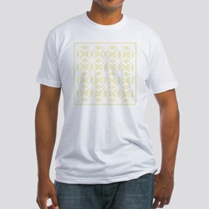 Lattice Pattern_ Gold BK Fitted T-Shirt