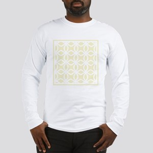 Lattice Pattern_ Gold BK Long Sleeve T-Shirt