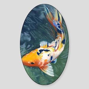 Koi Fish Kindle Sleeve Sticker (Oval)
