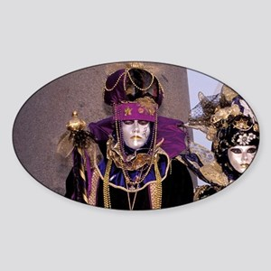 Europe, Italy, Venice. Carnival, tr Sticker (Oval)
