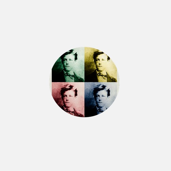 Rimbaud Pop Art Mini Button