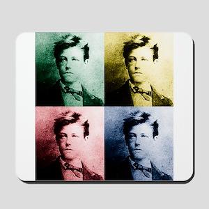 Rimbaud Pop Art Mousepad