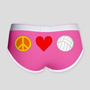 Peace Love Volleyball Women's Boy Brief