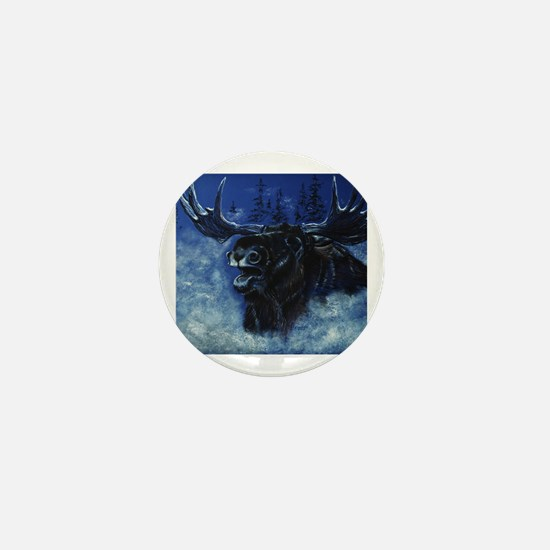 Cute Bull moose Mini Button