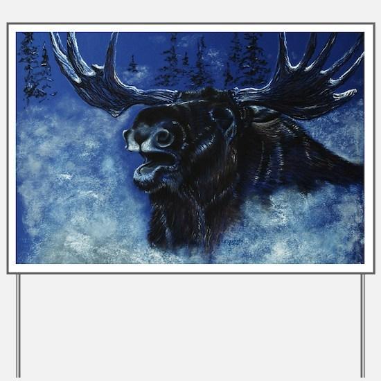 Cute Bull moose Yard Sign