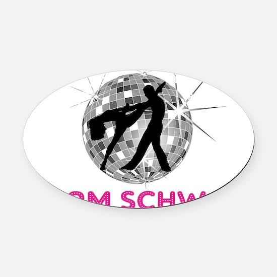 team schwaz Oval Car Magnet