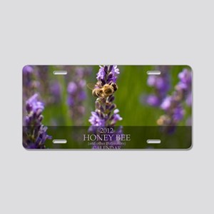 Oversized Calendar-Bee and  Aluminum License Plate