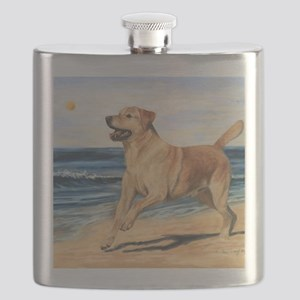 Lab on Beach Flask