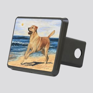 Lab on Beach Rectangular Hitch Cover