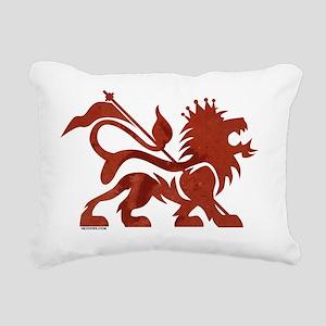 conquering-lion-design-r Rectangular Canvas Pillow