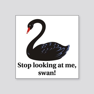 "swan Square Sticker 3"" x 3"""
