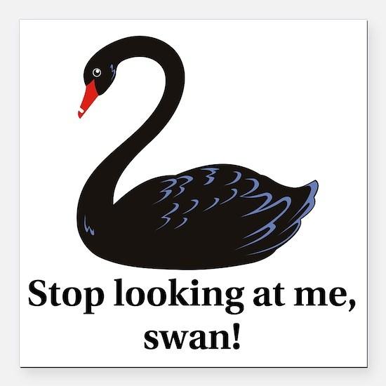 "swan Square Car Magnet 3"" x 3"""