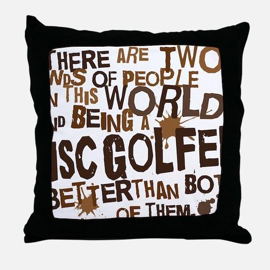 discgolfer_brown Throw Pillow