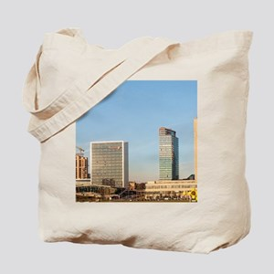 Downtown Vilnius, Lithuania, with skyline Tote Bag