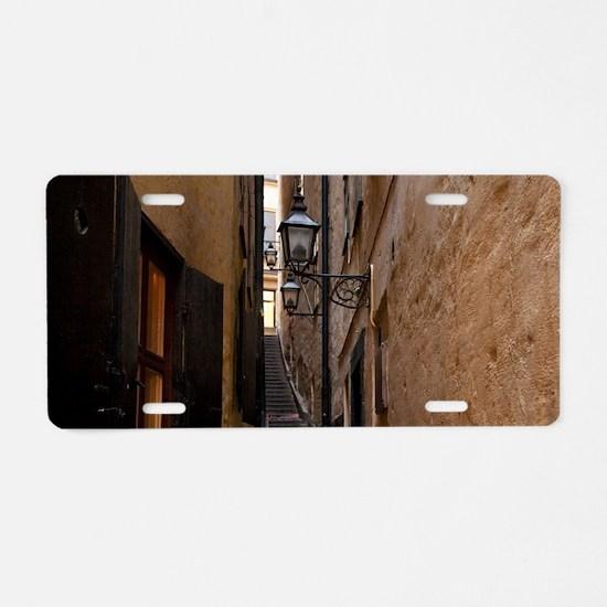 Sweden - A narrow alley lea Aluminum License Plate