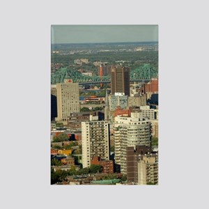 Montreal. City overview from Moun Rectangle Magnet