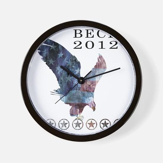 Beck_eagle_republican shirt_White Wall Clock