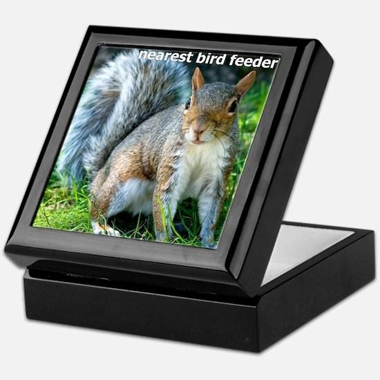 Squirrelbirdfourwithsig Keepsake Box