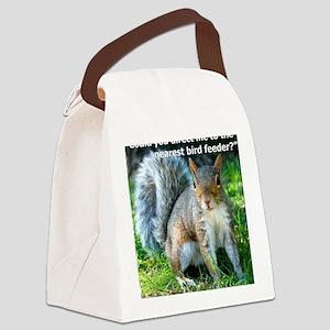 Squirrelbirdfourwithsig Canvas Lunch Bag
