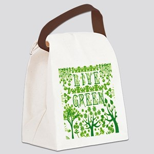 LIVE-GREEN Canvas Lunch Bag