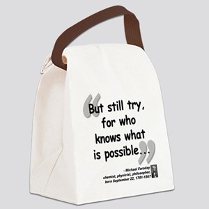 Faraday Try Quote Canvas Lunch Bag