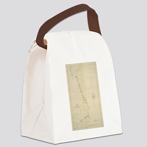 Vintage North Carolina and Virgin Canvas Lunch Bag