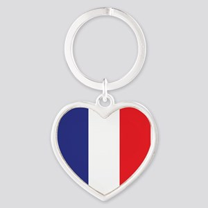 Flag of France Heart Keychain