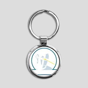 GortRobot Round Keychain