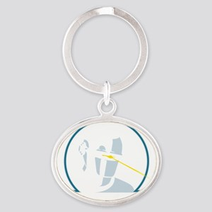 GortRobot Oval Keychain