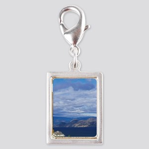 Vineyard on Okanagan Lakeumb Silver Portrait Charm