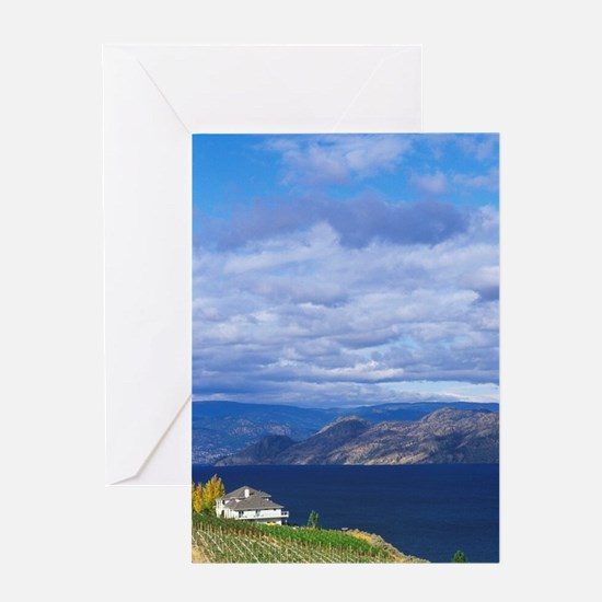 Vineyard on Okanagan Lakeumbia, Okan Greeting Card