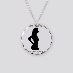 trust a hooker T shirt Necklace Circle Charm