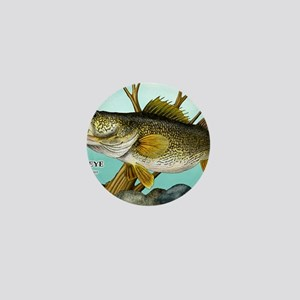 Walleye Mini Button
