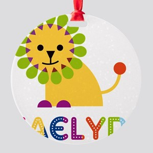 Kaelyn-the-lion Round Ornament