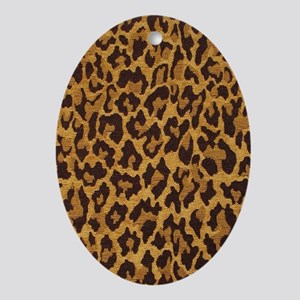 leopard443_iphone_case Oval Ornament
