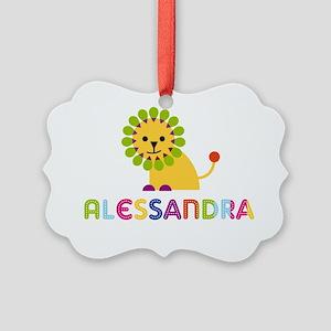 Alessandra-the-lion Picture Ornament