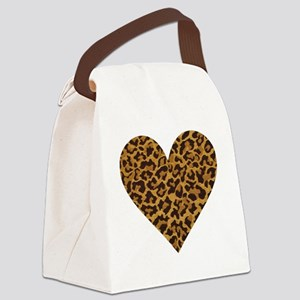 leopardheartpillow Canvas Lunch Bag