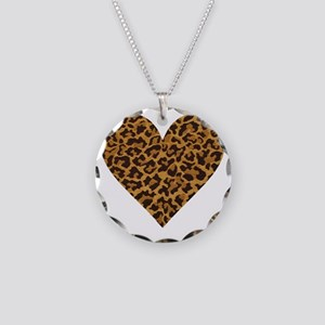 leopardheartpillow Necklace Circle Charm