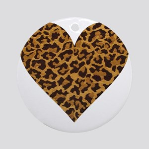 leopardheartpillow Round Ornament