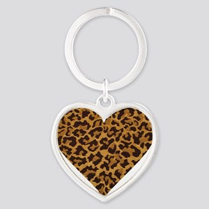 leopardheartpillow Heart Keychain