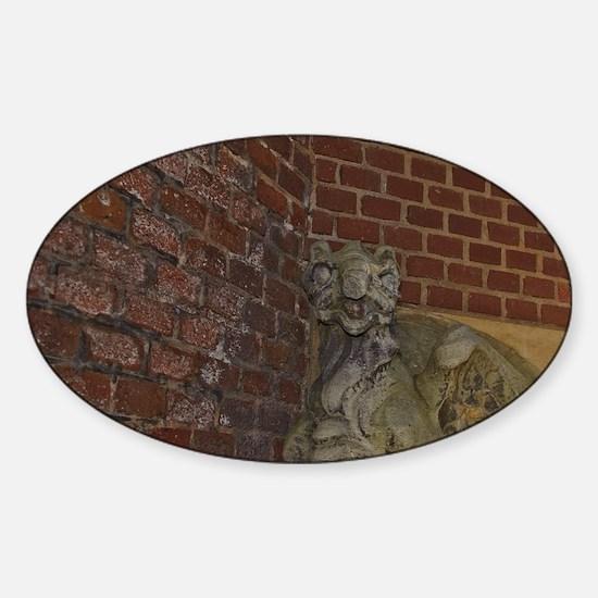 Helsingborg. Dragon statue along th Sticker (Oval)