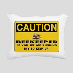 Caution Beekeeper Men Rectangular Canvas Pillow