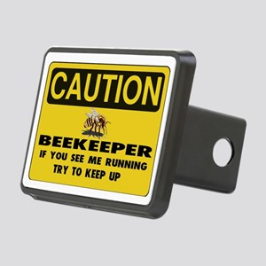 Caution Beekeeper Men Rectangular Hitch Cover