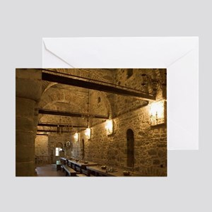 Greece, Meteora. Dining hall at Gran Greeting Card