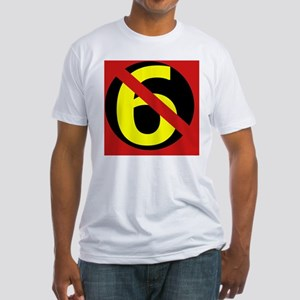 AntiSixersLogo4round Fitted T-Shirt