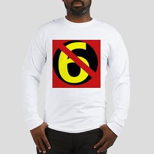 AntiSixersLogo4round Long Sleeve T-Shirt