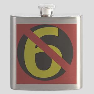 AntiSixersLogo4round Flask