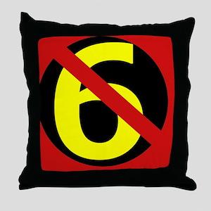 AntiSixersLogo4round Throw Pillow